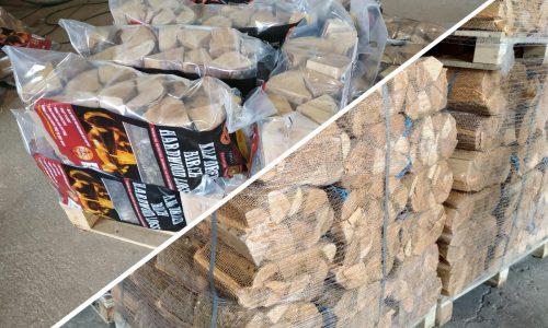 2. Дрова колотые из лиственных пород древесины в сетках и полиэтиленовых пакетах